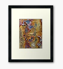 Paper Bark Abstract Framed Print