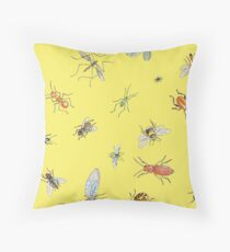 Creapy crawlies: Sunshine Throw Pillow