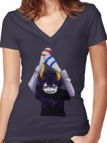 sober night Women's Fitted V-Neck T-Shirt