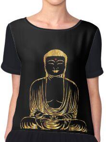 Golden Buddha Zen Meditation Chiffon Top