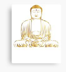 Golden Buddha Zen Meditation Canvas Print