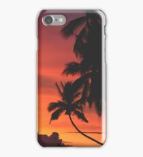 Coconut Trees Silhouette at Dusk iPhone Case/Skin