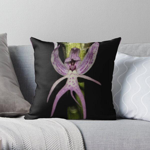 Orchis italica Throw Pillow