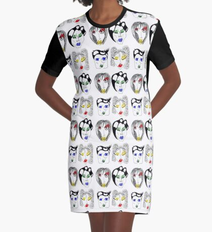 The Women Who Are Bad At Makeup Graphic T-Shirt Dress