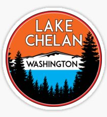 LAKE CHELAN WASHINGTON BOATING WATER SPORTS SKIING BOAT FISHING TUBING HOUSEBOAT Sticker