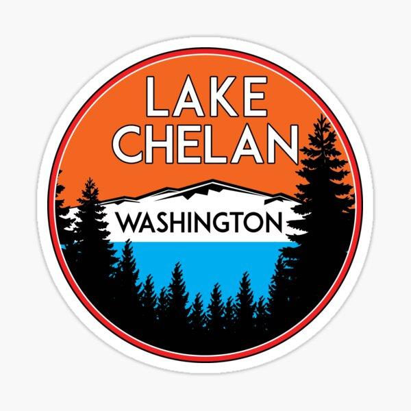 LAKE CHELAN WASHINGTON BOATING WATER SPORTS SKIING BOAT FISHING TUBING HOUSEBOAT Sticker