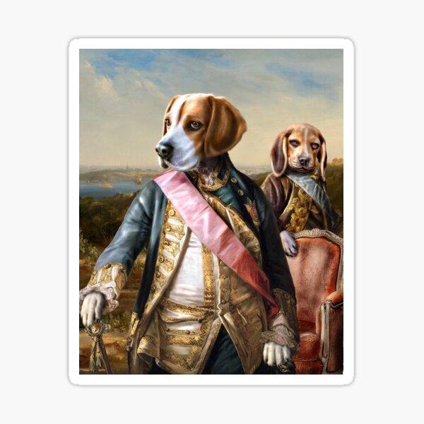 Beagle Dog Portrait - Tarzan and Archie Sticker