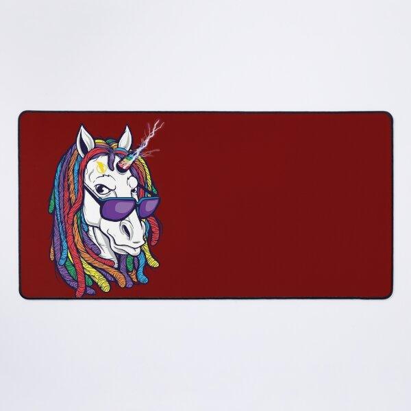 unicorn thunder Desk Mat