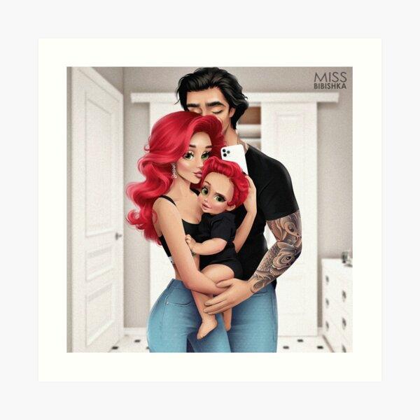 A happy family Art Print