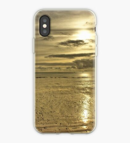 Beach Sunset - Oxwich Bay, Gower, Wales iPhone Case