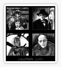 Original Art of Actor Christopher Lloyd Sticker