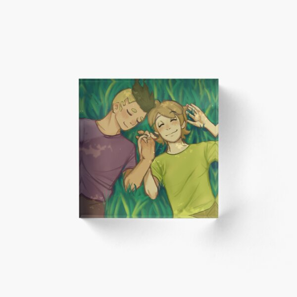 bear and Eddie <3 Acrylic Block