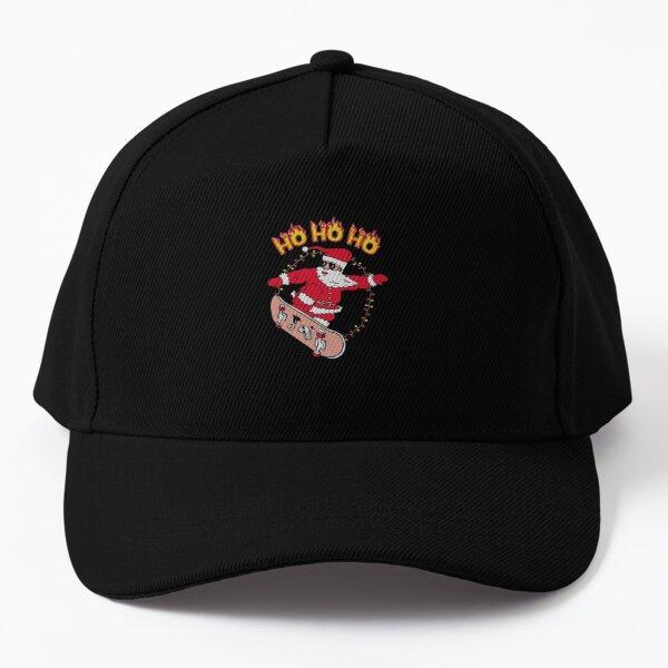 Skater Santa Ho Ho Ho Baseball Cap