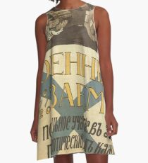Vintage poster - Russia WWI A-Line Dress