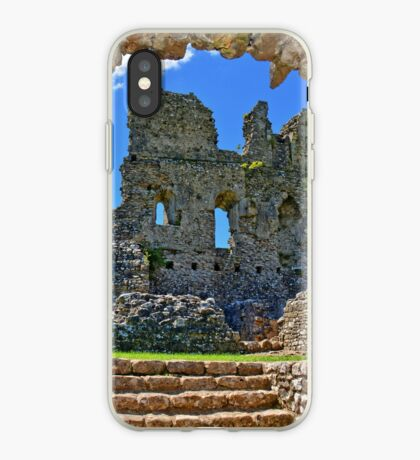 Ogmore Castle, a 12th century Norman Castle in Wales iPhone Case