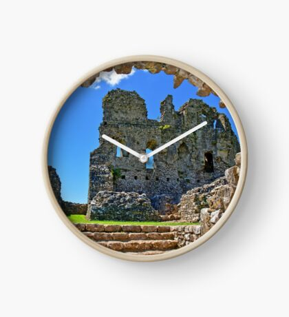 Ogmore Castle, a 12th century Norman Castle in Wales Clock