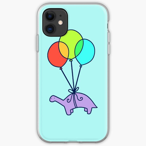 Balloon Dinosaur iPhone Soft Case