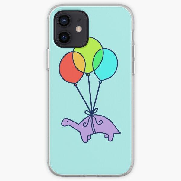Dinosaurio globo Funda blanda para iPhone