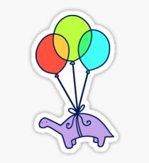 Balloon Dinosaur Sticker