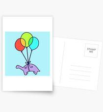 Balloon Dinosaur Postcards