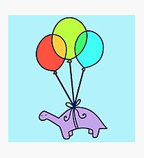 Balloon Dinosaur Photographic Print