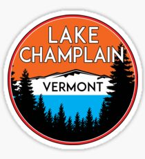 LAKE CHAMPLAIN VERMONT BOATING JET SKI BOAT CAMPING HIKING NEW YORK VERMONT Sticker