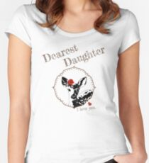 Deer Younger Daughter - I love my dear family Fitted Scoop T-Shirt