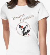 Deer Younger Daughter - I love my dear family Women's Fitted T-Shirt