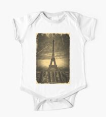 Vintage Paris Eiffel Tower One Piece - Short Sleeve
