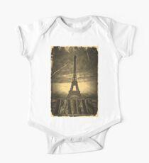 Vintage Paris Eiffel Tower One Piece - Short Sleeve