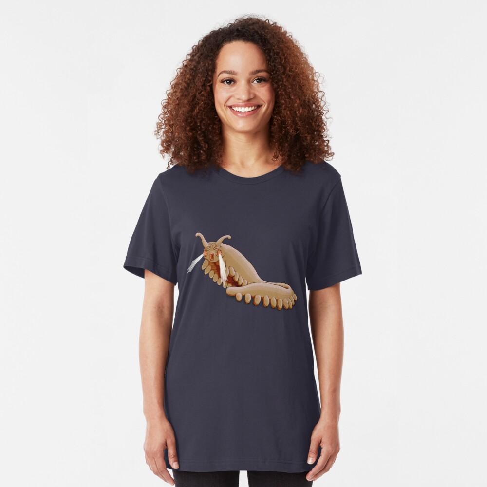 Brown Onychophora velvet worm Slim Fit T-Shirt