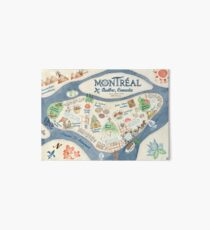 Map of Montreal, Canada Art Board
