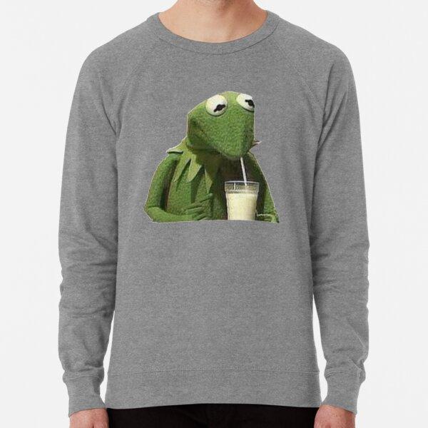 Kermit Drinks Milk Lightweight Sweatshirt