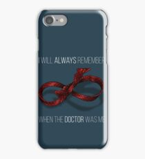 remember the 11th doctor iPhone Case/Skin