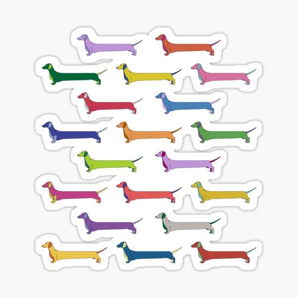 weiner dogs Sticker
