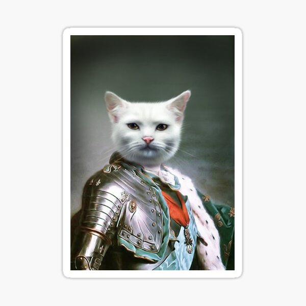 Cat Portrait - Minion Sticker