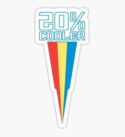 20% COOLER Sticker