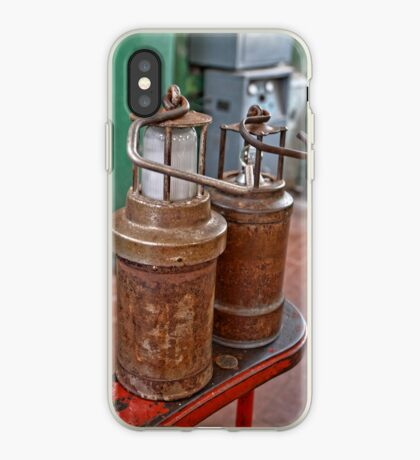Old Ancient Miners Lamps for Coal Mining iPhone Case