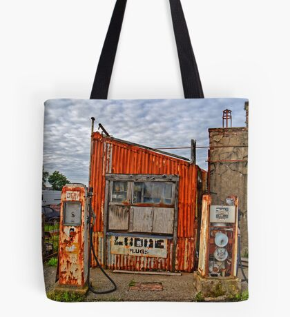 Abandoned Old Petrol Filling Station, Wales Tote Bag
