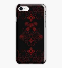 Roses & Rotten Apples - Gothic Red iPhone Case/Skin