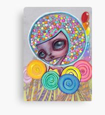 bubblegum head Canvas Print