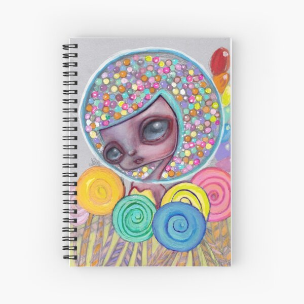bubblegum head Spiral Notebook