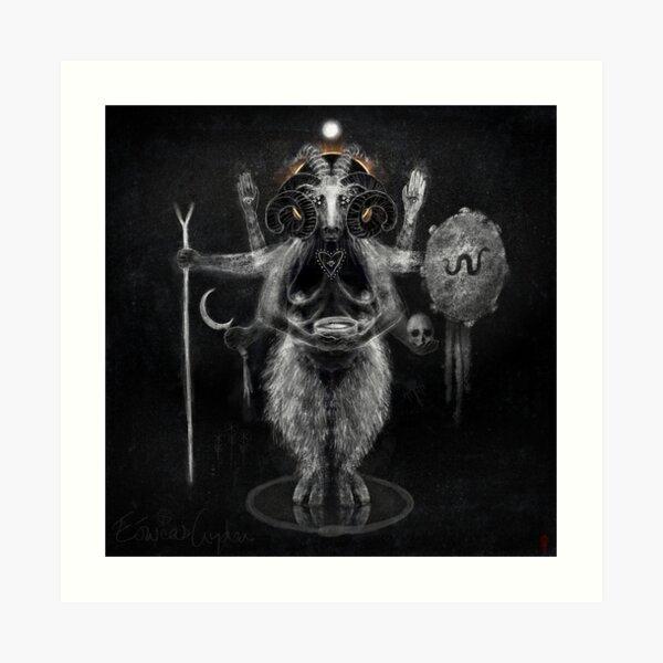 Eóweas Gyden (Sheep Goddess) Goddess of the Land & Healing. Art Print
