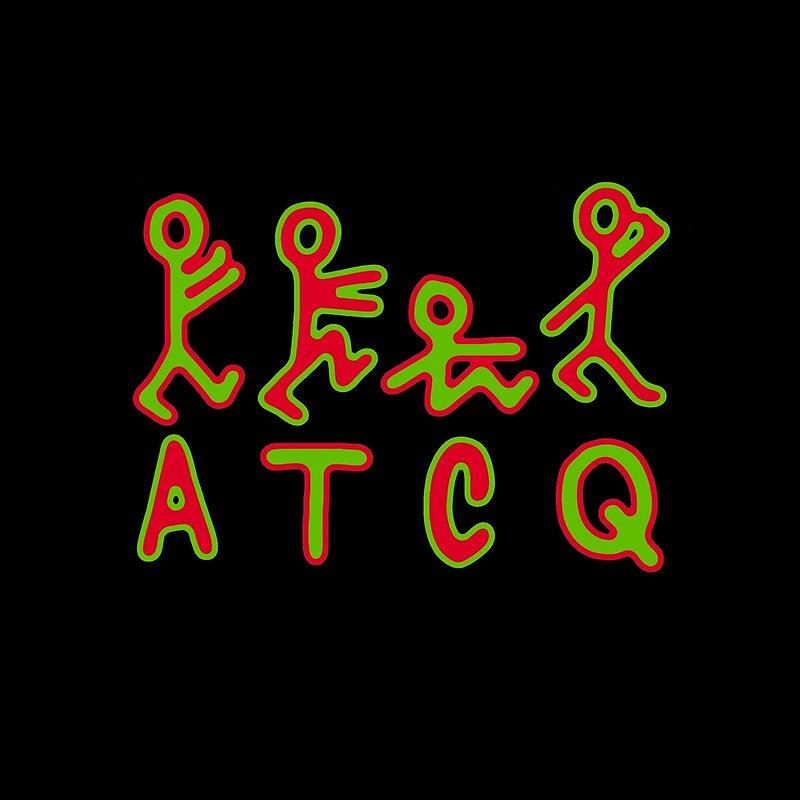 """a tribe called quest atcq logo, alternating outline"""" throw pillows"""
