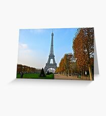 Eiffel Tower in Autumn Greeting Card