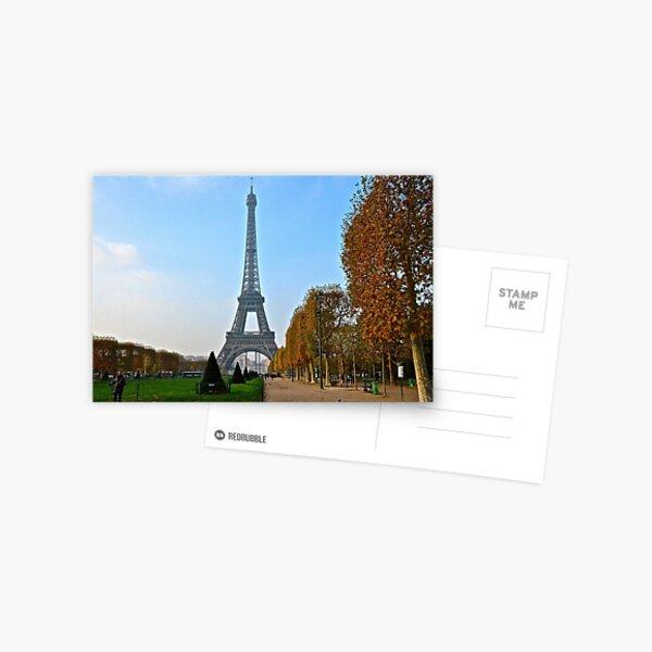 Eiffel Tower in Autumn Postcard