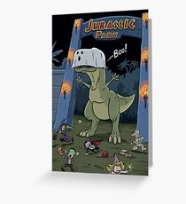 Tyranosaurus Boo Greeting Card