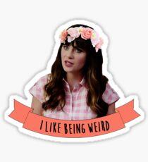 Jess   I Like Being Weird Sticker