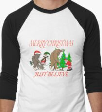 Bigfoot family meet Santa 3 T-Shirt