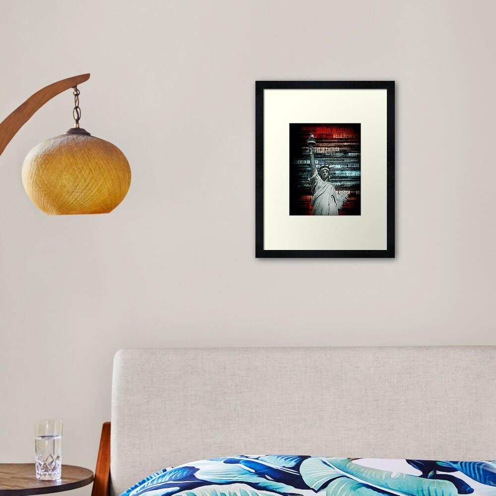 Believe In Liberty Framed Art Print